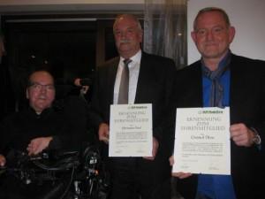 Bild v. l.: Matthias Küffner, Oberbürgermeister Hermann Faul, Christof Öhm